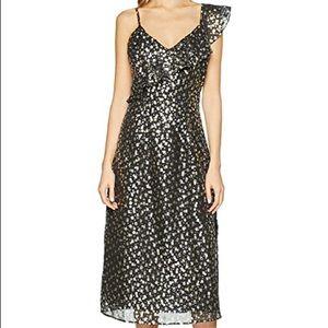 Foil star jacquard dress NWT